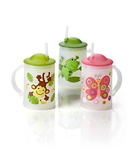 LivingQuarters Kids Frosty Animal Mug with Lid and Straw