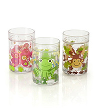 LivingQuarters Kids Glitter Floater Cup with Animal Pattern