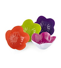 LivingQuarters Samba Flower Shaped Bowls