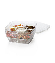 LivingQuarters Clear Salad Chiller/Server