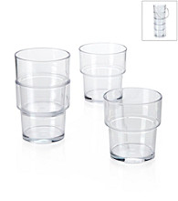 LivingQuarters 4-pc. Clear Acrylic Cup Set