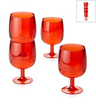 LivingQuarters 4-pc. Orange Acrylic Wine Glass Set