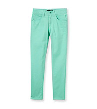 Vanilla Star® Girls' 7-16 Neon Mint Skinny Jeans