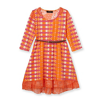 Jessica Simpson Girls' 7-16 Butterscotch Tie-Dye Dress