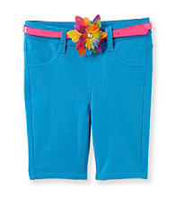 Squeeze® Girls' 2T-6X Belted French Terry Bermuda Shorts