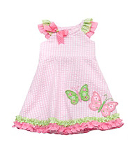 Rare Editions® Girls' 2T-6X Pink Butterfly Seersucker Dress