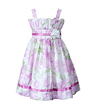 Sweet Heart Rose® Girls' 2T-6X Lilac Floral Print Dress