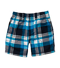 Carter's® Baby Boys' Navy Plaid Woven Shorts