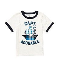 Carter's® Baby Boys' White Short Sleeve Captain Adorable Tee