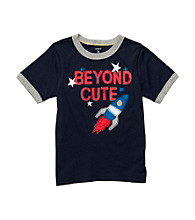 Carter's® Baby Boys' Navy Short Sleeve Rocket Tee