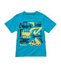 Carter's® Baby Boys' Blue Short Sleeve Construction Tee