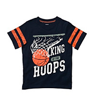 Carter's® Baby Boys' Navy Short Sleeve Basketball Hoops Tee