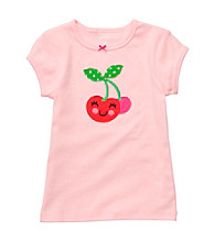 Carter's® Baby Girls' Light Pink Short Sleeve Cherry Tee