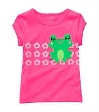 Carter's® Baby Girls' Pink Short Sleeve Frog Tee