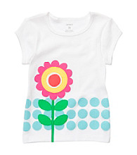 Carter's® Baby Girls' White Short Sleeve Flower Tee