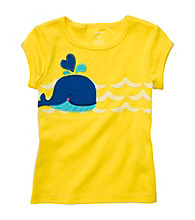 Carter's® Baby Girls' Yellow Short Sleeve Whale Tee