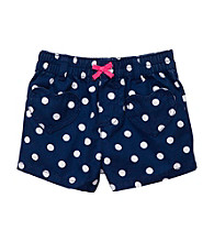 Carter's® Baby Girls' Navy Polka-Dot Woven Shorts