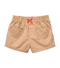 Carter's® Baby Girls' Khaki Woven Shorts