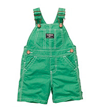 Oshkosh B'Gosh® Baby Boys' Green Poplin Shortall