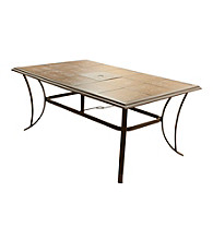 Mission Gallery Rectangular Tile Patio Table