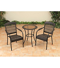 Mission Gallery 3 pc. Brown Resin Wicker Bistro Set