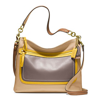 COACH POPPY LEATHER COLORBLOCK PERRI HIPPIE