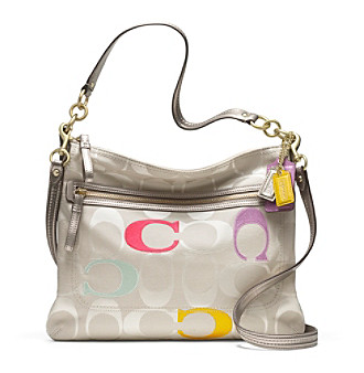 COACH POPPY EMBROIDERED SIGNATURE C PERRI HIPPIE