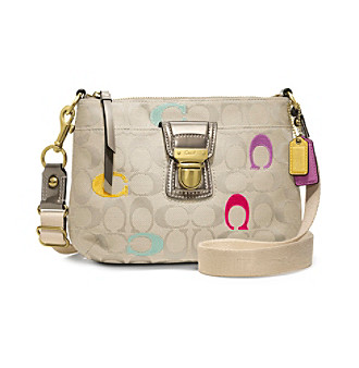 COACH POPPY EMBROIDERED SIGNATURE SWINGPACK