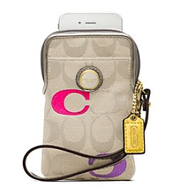 COACH POPPY EMBROIDERED SIGNATURE N/S UNIVERSAL CASE
