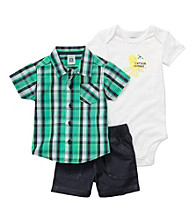 Carter's® Baby Boys' Green 3-pc. Woven Shorts Set