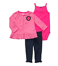 Carter's® Baby Girls' Bright Pink 3-pc. Cardigan Set