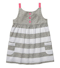 Carter's® Girls' 2T-6X Grey/White Striped Tunic Tank