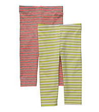Carter's® Girls' 2T-6X Orange/Lime 2-pk. Striped Capri Leggings