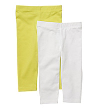 Carter's® Girls' 2T-6X Lime/White 2-pk. Capri Leggings