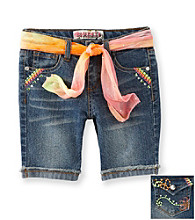 Squeeze® Girls' 2T-6X Neon Icon Flap Back Pocket Bermuda Shorts