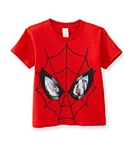 Spider-Man® Boys' 2T-7 Red Short Sleeve Big Face Tee