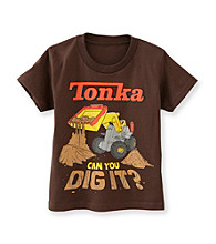 Tonka® Boys' 4-7 Brown Short Sleeve Dig It Tee
