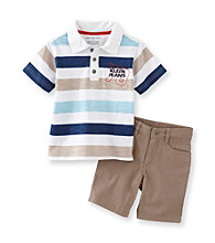 Calvin Klein Jeans® Boys' 2T-7 Blue 2-pc. Jersey Polo Shorts Set