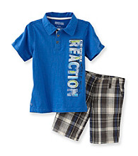 Kenneth Cole® Boys' 2T-7 Blue 2-pc. Polo Shorts Set