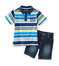 Kenneth Cole® Boys' 2T-7 Multi 2-pc. Striped Polo Shorts Set