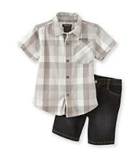 Kenneth Cole® Boys' 2T-7 Grey 2-pc. Woven Shorts Set