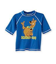 Scooby-Doo® Boys' 4-7 Royal Scooby Rash Guard