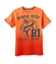 Ruff Hewn Boys' 8-20 Mango Passion Short Sleeve Shark Graphic Tee