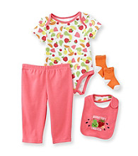 Cuddle Bear® Baby Girls' 4-pc. Fruity Friends Print Take-Me-Home Set