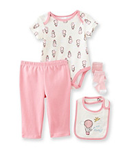 Cuddle Bear® Baby Girls' 4-pc. Flying Elephants Print Take-Me-Home Set