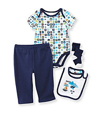 Cuddle Bear® Baby Boys' 4-pc. Always On The Go Print Take-Me-Home Set
