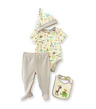 Cuddle Bear® Baby 4-pc. Jungle Friends Print Take-Me-Home Set