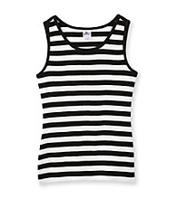 Miss Attitude Girls' 7-16 2x2 Rib Striped Tank