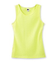 Miss Attitude Girls' 7-16 2x2 Rib Solid Tank