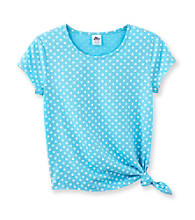 Miss Attitude Girls' 7-16 Glitter Star Side Tie Tee